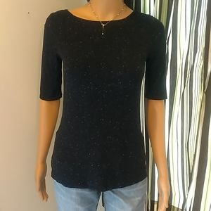 Apt. 9 Black Sparkling T-shirt